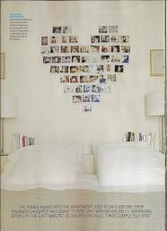 Denne bildeveggen er bare såååå søt :-) En slik vil jeg prøve å lage enten på soverommet eller et annet sted!